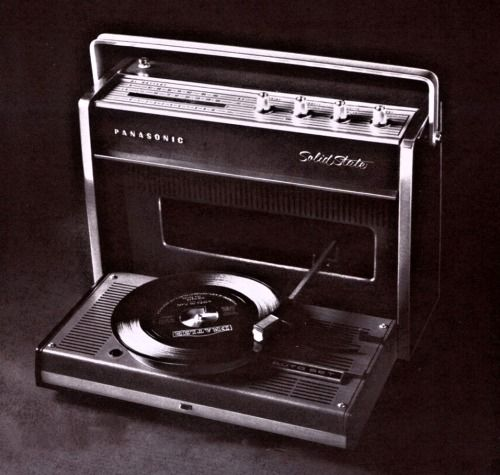 Record Players • ⋅ Panasonic Solid State SG 610 Portable, 1968 ⋅