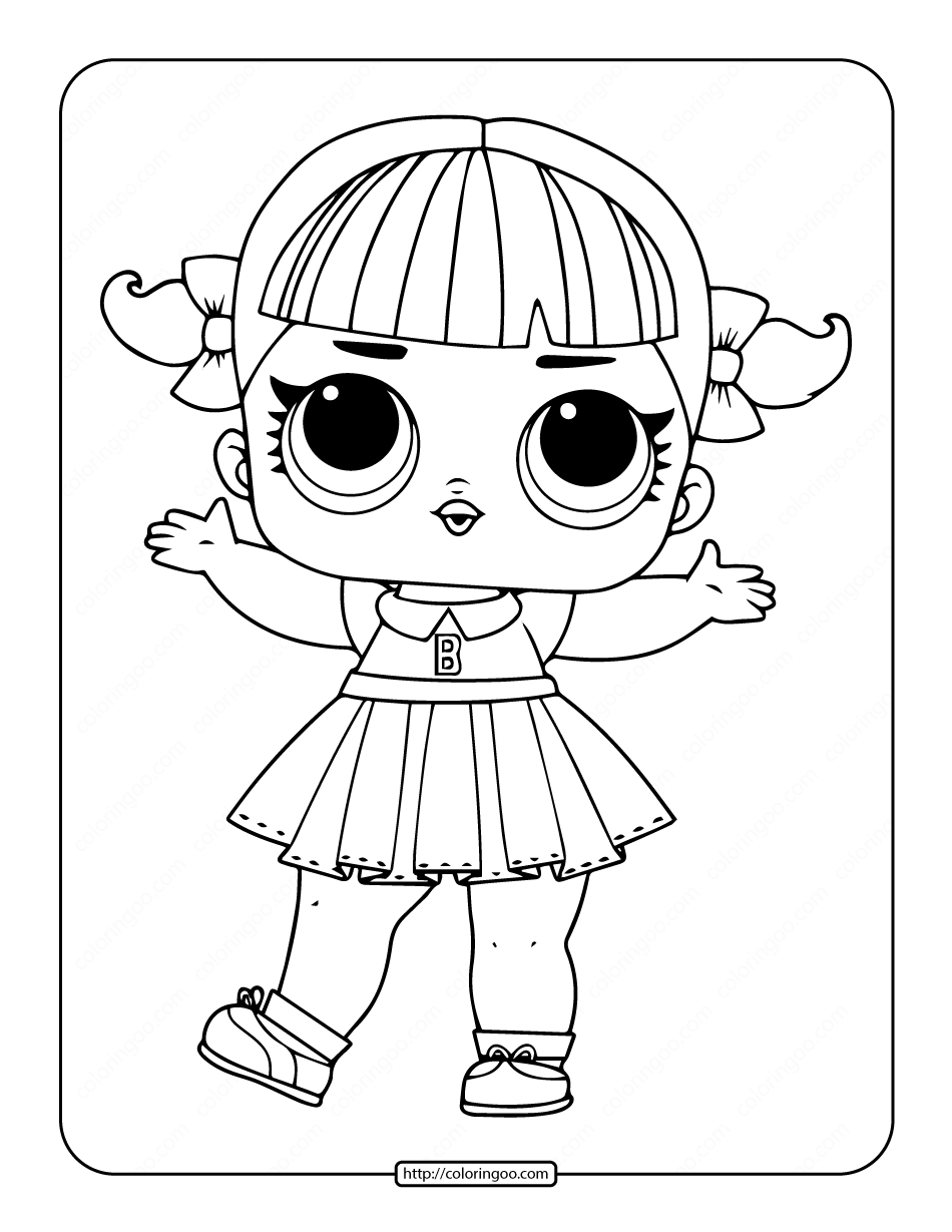 Printable Lol Surprise Cheer Captain Coloring Pages 33 Lol Dolls Doll Drawing Coloring Pages