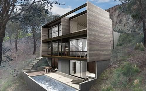 Hollywood hybrid casas prefabricadas de m radziner for Disenos de casas prefabricadas modernas
