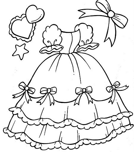 Quinceanera Dress  free coloring pages  Coloring Pages