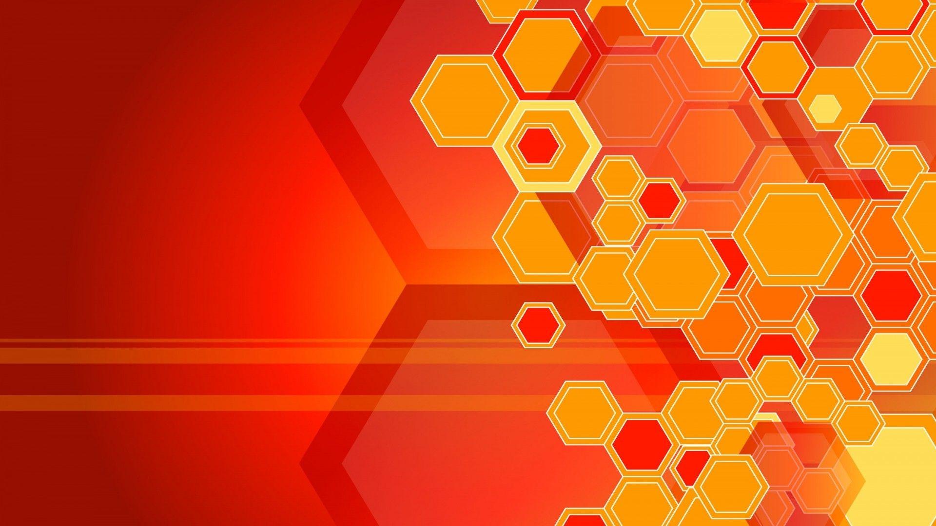 General 1920x1080 Abstract Pattern Digital Art Geometry Orange