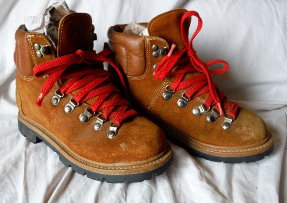 Vintage Womens SEARS Brown Ruff Leather Suede Lace Up Work Field Hiking  Boots Size 6.5 B
