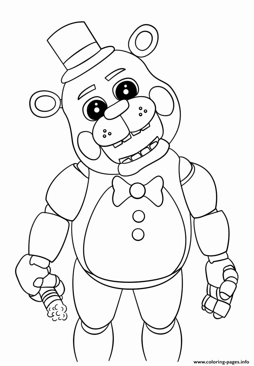 Five Nights At Freddy 039 S Coloring Page Fresh Nightmare Five Nights At Fred S Free Coloring Pages Halaman Mewarnai Buku Mewarnai Five Nights At Freddy S