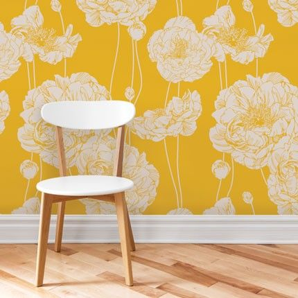 Peony Wallpaper Peel And Stick Removable Wallpaper Peony Wallpaper Traditional Wallpaper