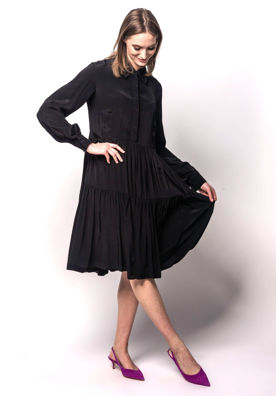 Black Dress Long Sleeves Dress With Pockets Dress Etsy Black Long Sleeve Dress Long Black Dress Elegant Dresses [ 3000 x 2090 Pixel ]