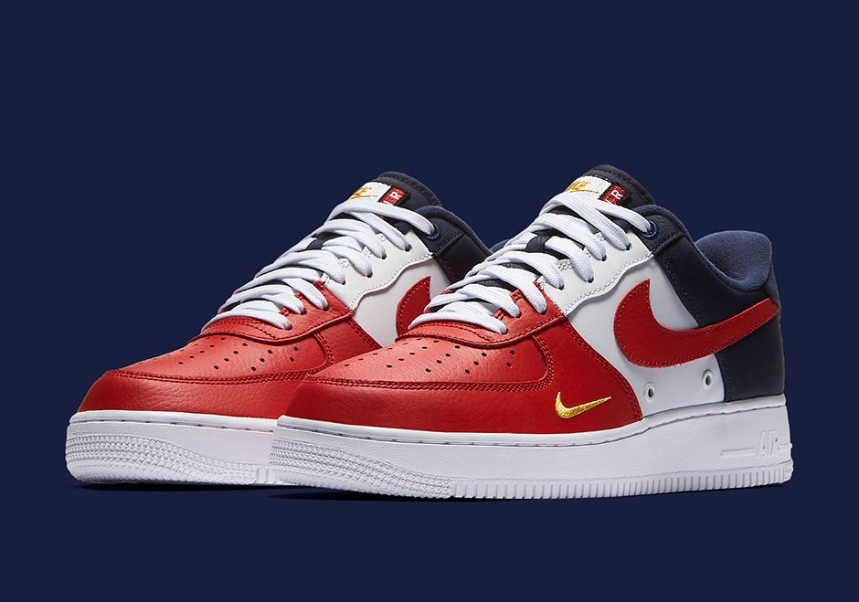 nike air force 1 premium gs team red white and blue