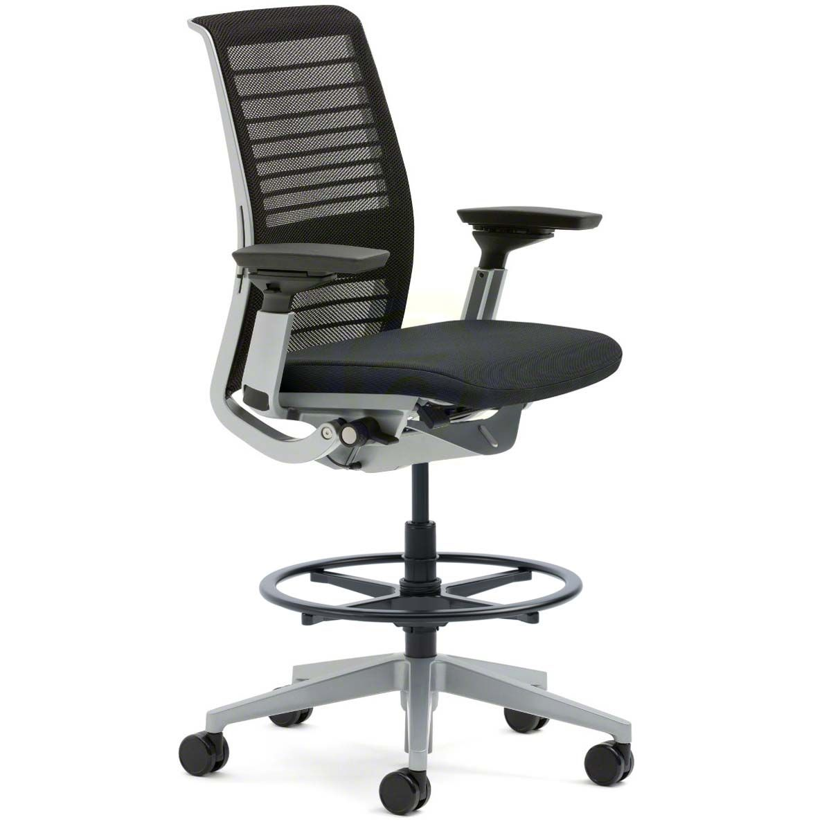 Shop Steelcase Think Drafting Stools With 3d Knit Back Steelcase Steelcase Think Steelcase Think Chair