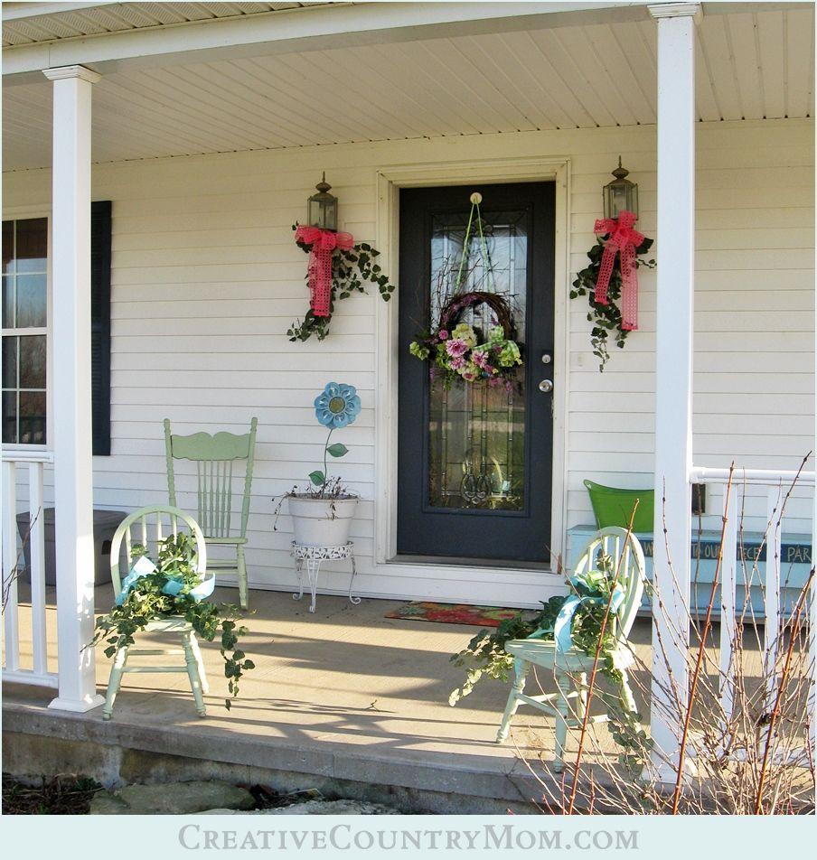 Creative Screened Porch Design Ideas: Creative Country Mom's Garden: #Spring #FrontPorch Decked