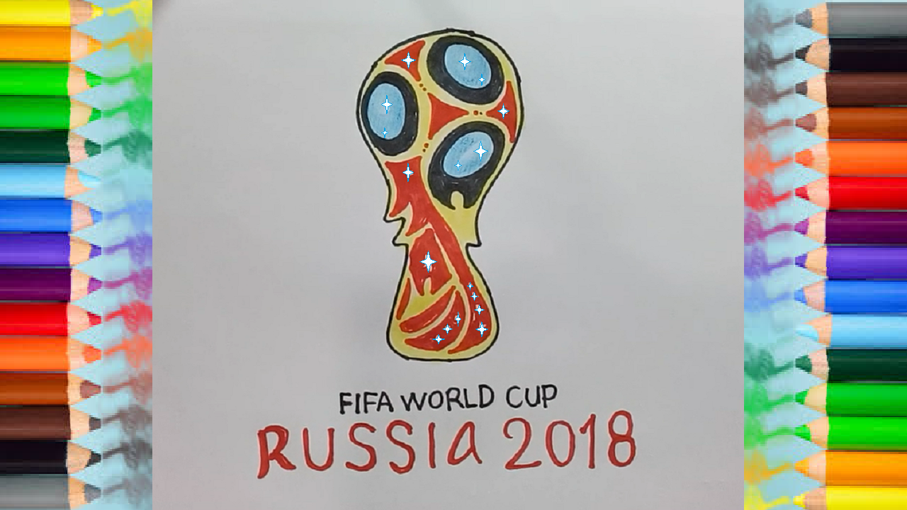 Fifa World Cup Russia 2018 Logo Drawing How To Draw The Fifa World Cup Russia 2018 Logo Https Htdraw Com W World Cup Russia 2018 World Cup Fifa World Cup