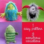 Eggheads Monster Softie Pattern