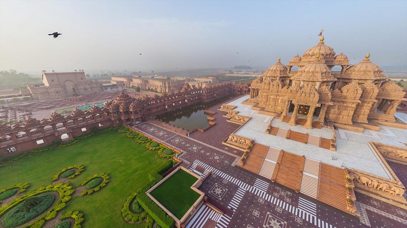 Akshardham In Delhi India C Airpano Bing United Kingdom Magical Places Aerial Travel