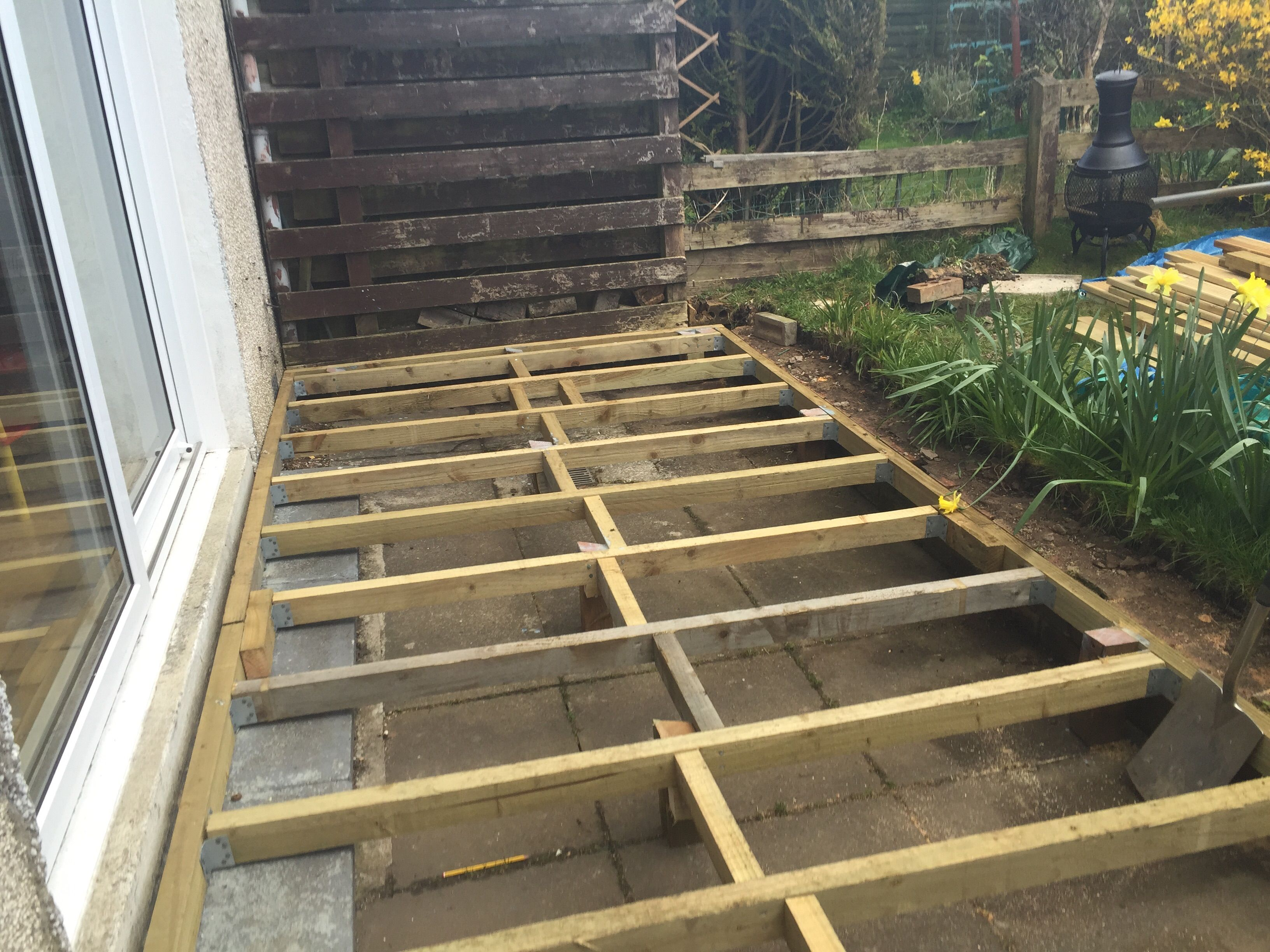 Best Build A Front Deck Over Your Concrete Stairs For Added 640 x 480