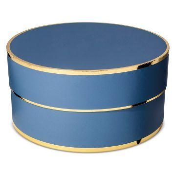 Sugar Paper® Navy Round Gift Box The Christmas Pinterest