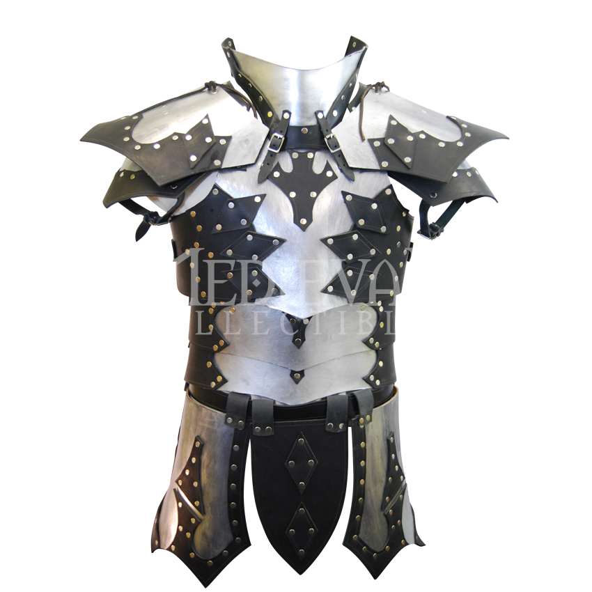 The Knight's Armor also includes a leather collar, which ...