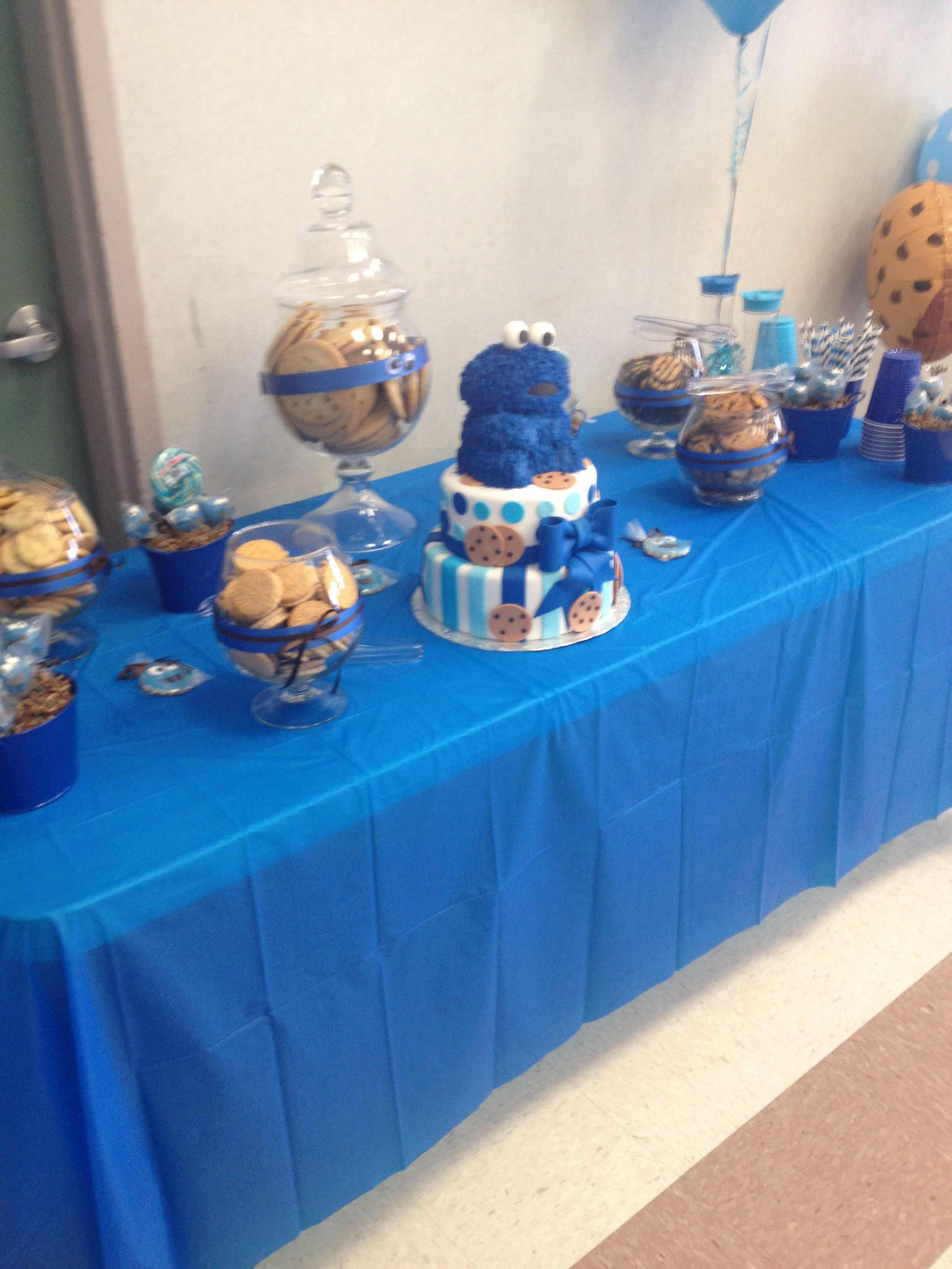 Cookie Monster Cookie Buffet Babyshowers Pinterest Cookie
