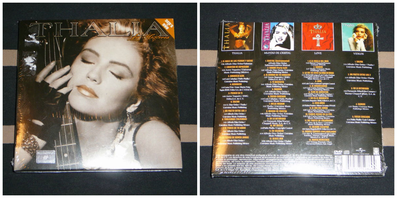 Box Set Español 3 Cd's + Dvd (Thalia 1990 - Mundo De Cristal - Love