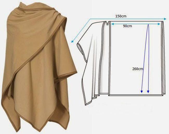 Resultado de imagen para molde de ruana en tela | Patrones ...
