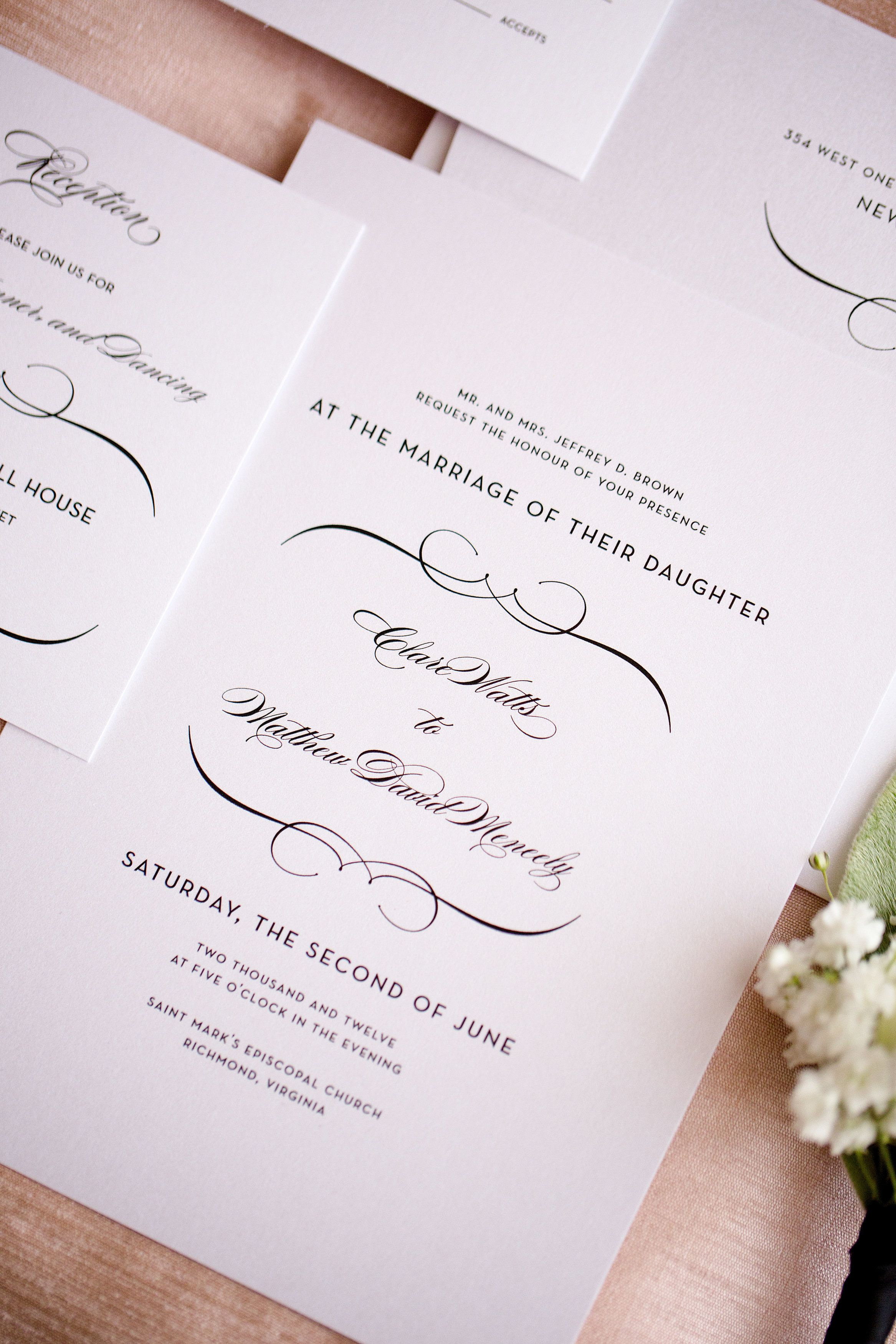 French Romance Wedding Invitations | French romance, Vintage wedding ...