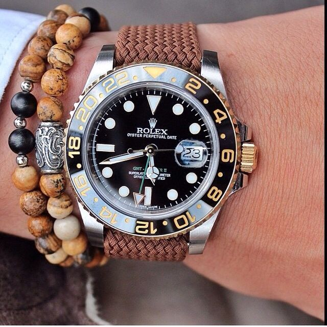 Two Tone Rolex Gmt Master Ii With Perlon Strap Somehow I Have