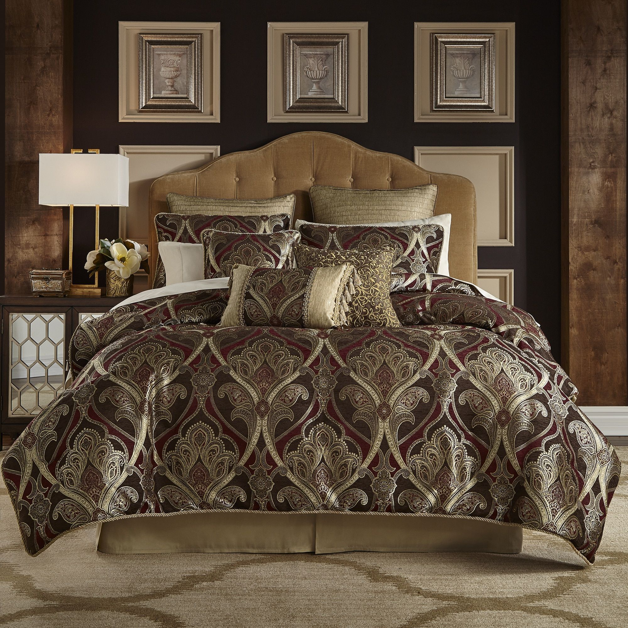 home forter comforter black sets j red king damask york queen sauvignon by decor new idea and of awesome set bedding