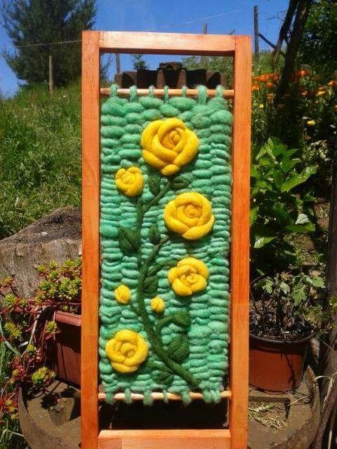 Flores Amarillas Telares Mini Weaving Manualidades Y Crochet