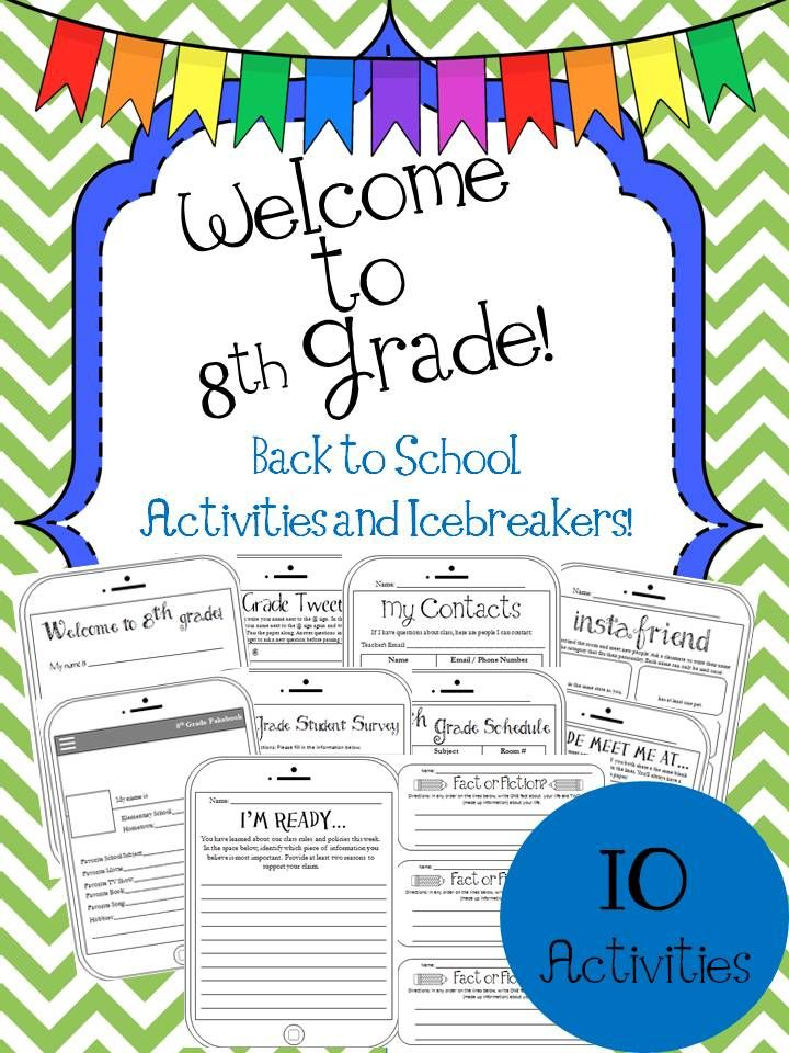 8th Grade Back To School Activities And Icebreakers Back To