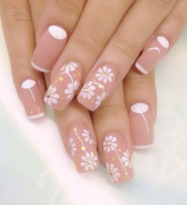 50 Half Moon Nail Art Ideas Pinterest Spring Nails Summer Nail