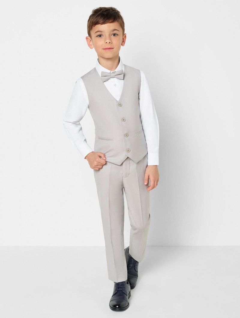 Boys Suits Baby boys Ivory /& Grey Waistcoat Suit Paisley of London Page Boy Suits