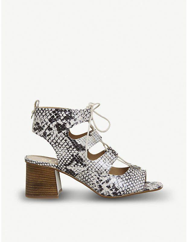 0f181f557b7dfa Office Mallorca snakeskin-print leather sandals