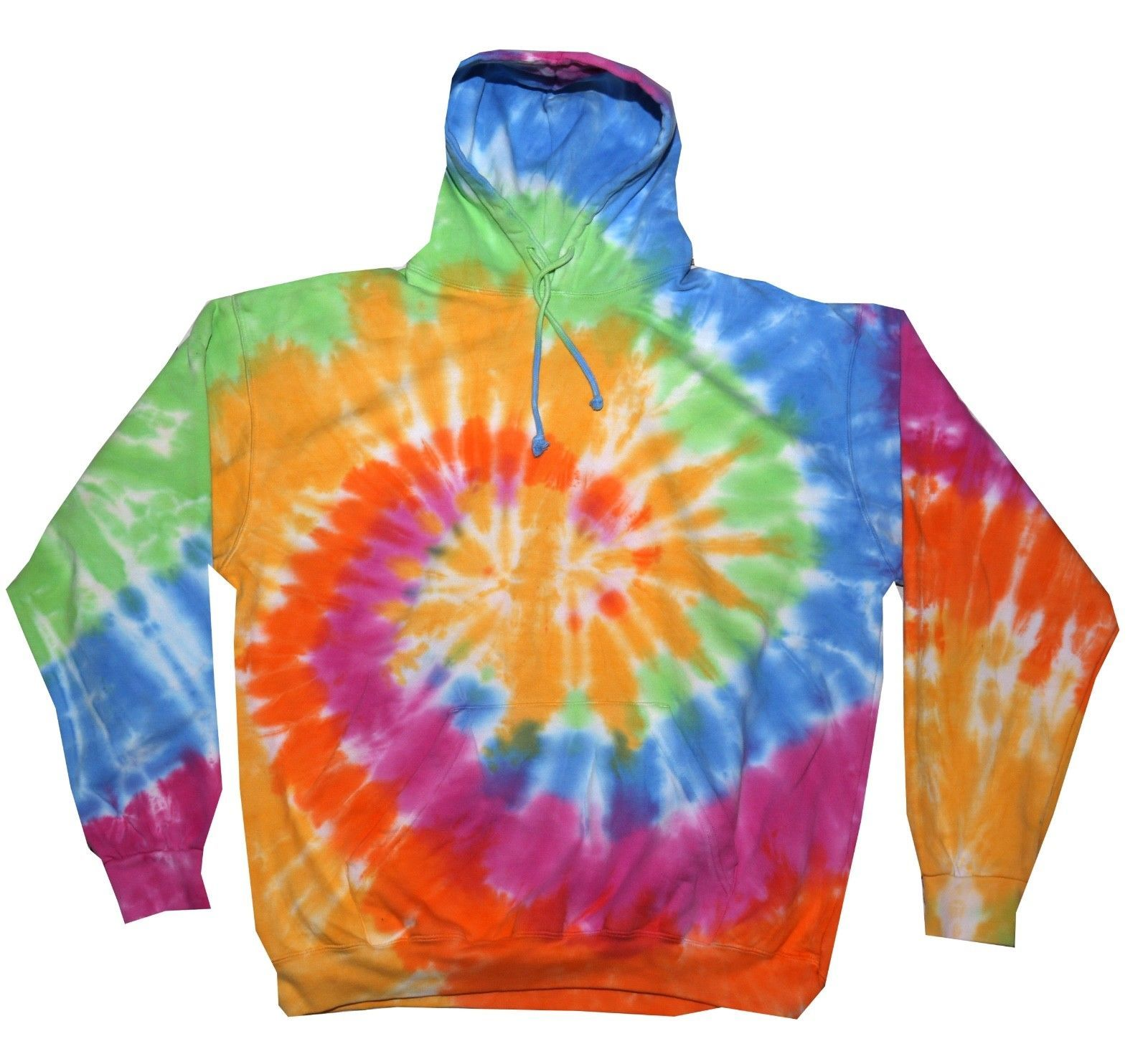 c10d40af2 Tie Dye Pastel Rainbow Hoodie Adult S To 3Xl Long Sleeve With ...
