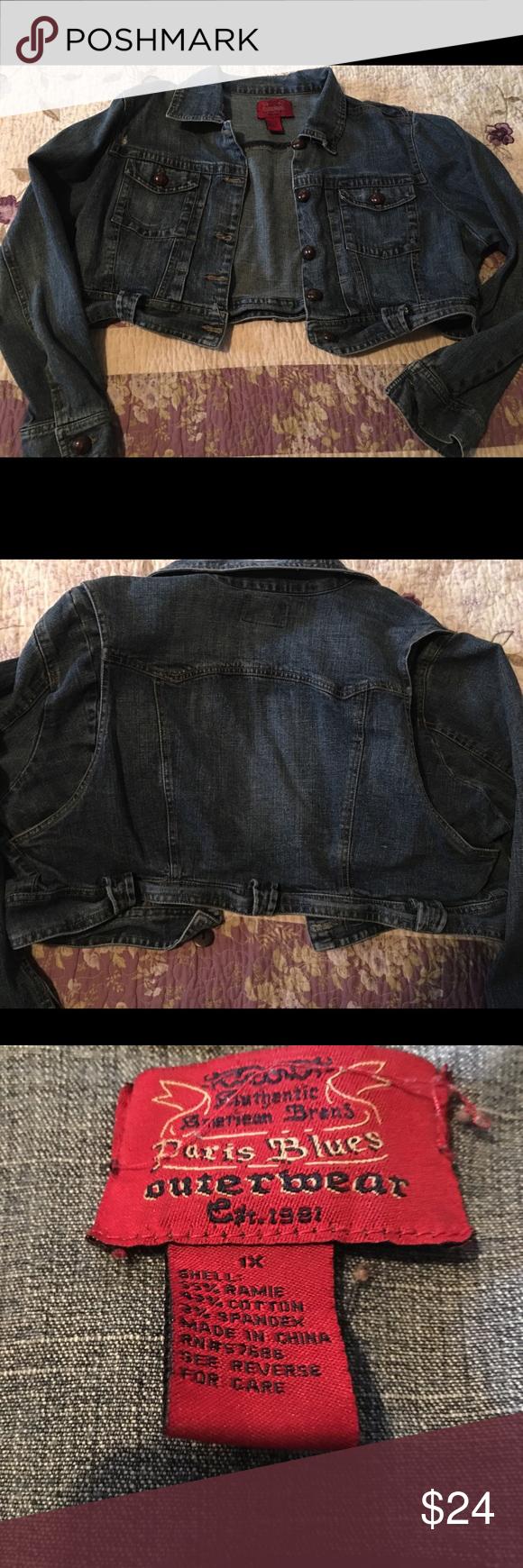 Paris Blues Outerwear Jean Jacket Blue Outerwear Jean Jacket Paris Blues [ 1740 x 580 Pixel ]