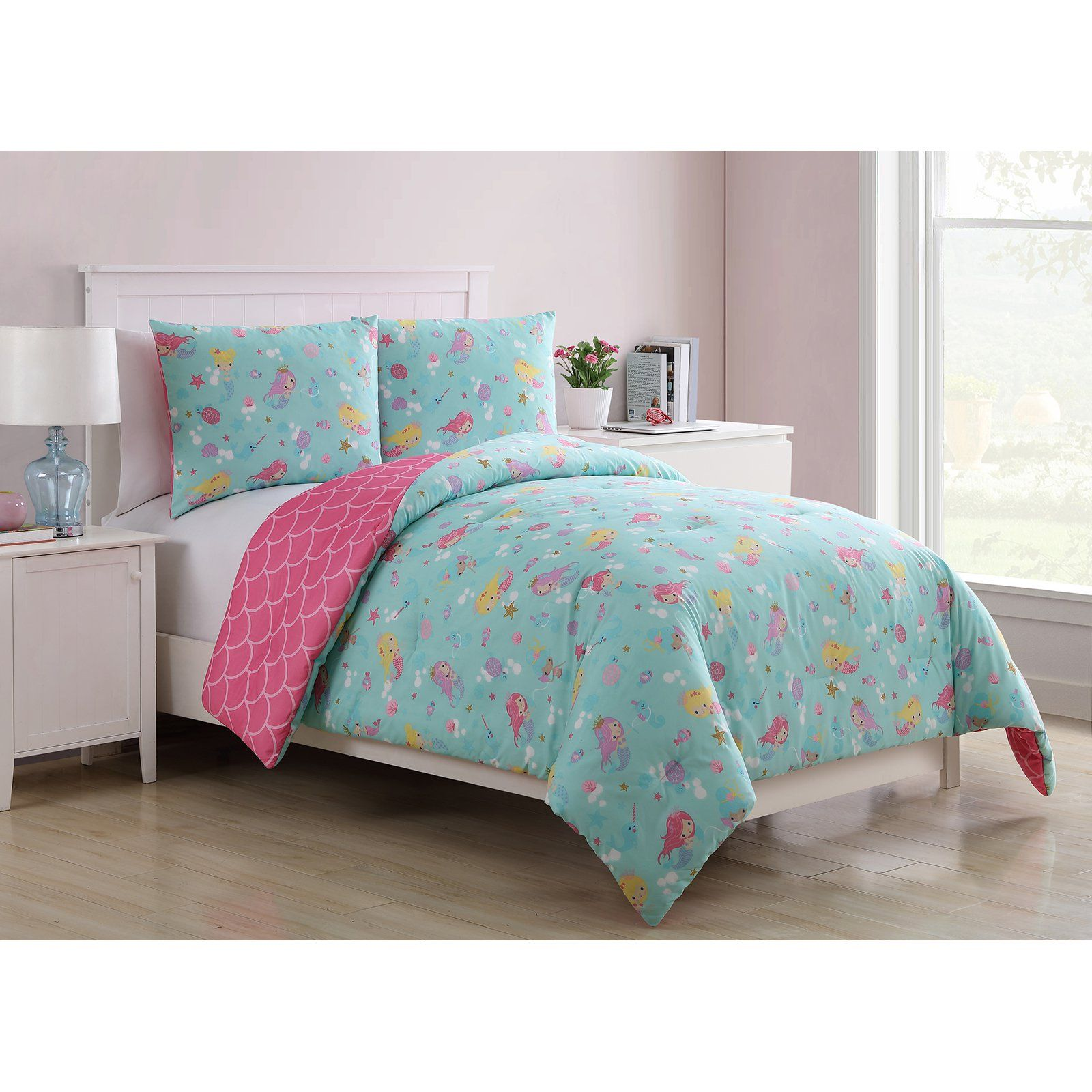 c1113c6c71ac3a Mermaid Princess Reversible Kids Comforter Set by VCNY Home in 2019 ...
