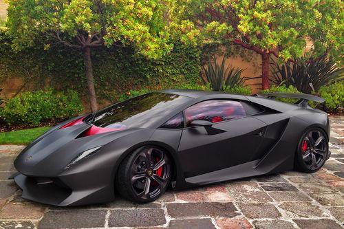 Matte Black And Red Lamborghini Cars Lamborghini Sesto