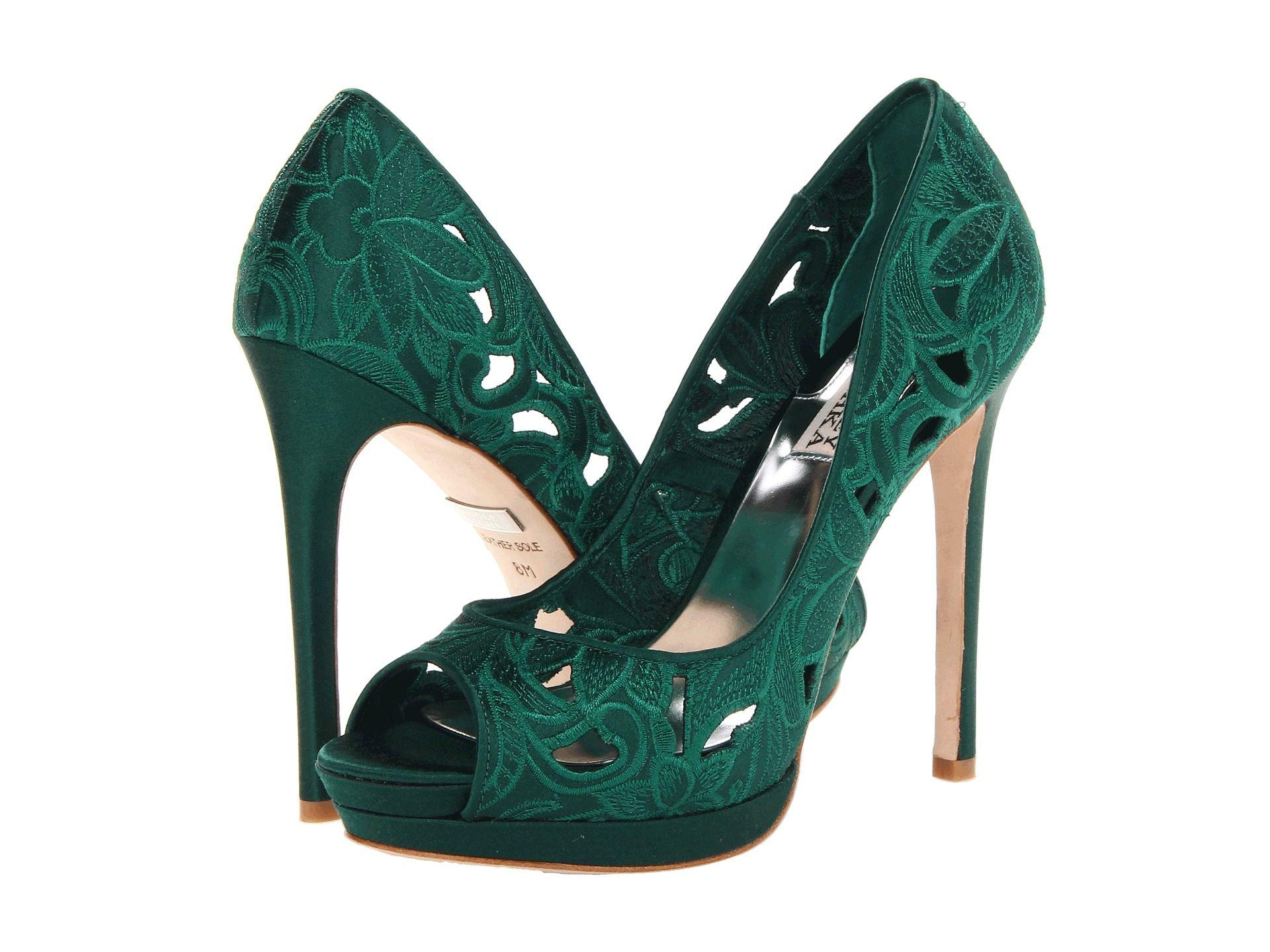 Green heels, Emerald green shoes