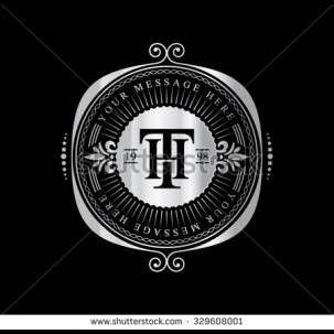 Elegant logo in frame Flourishes