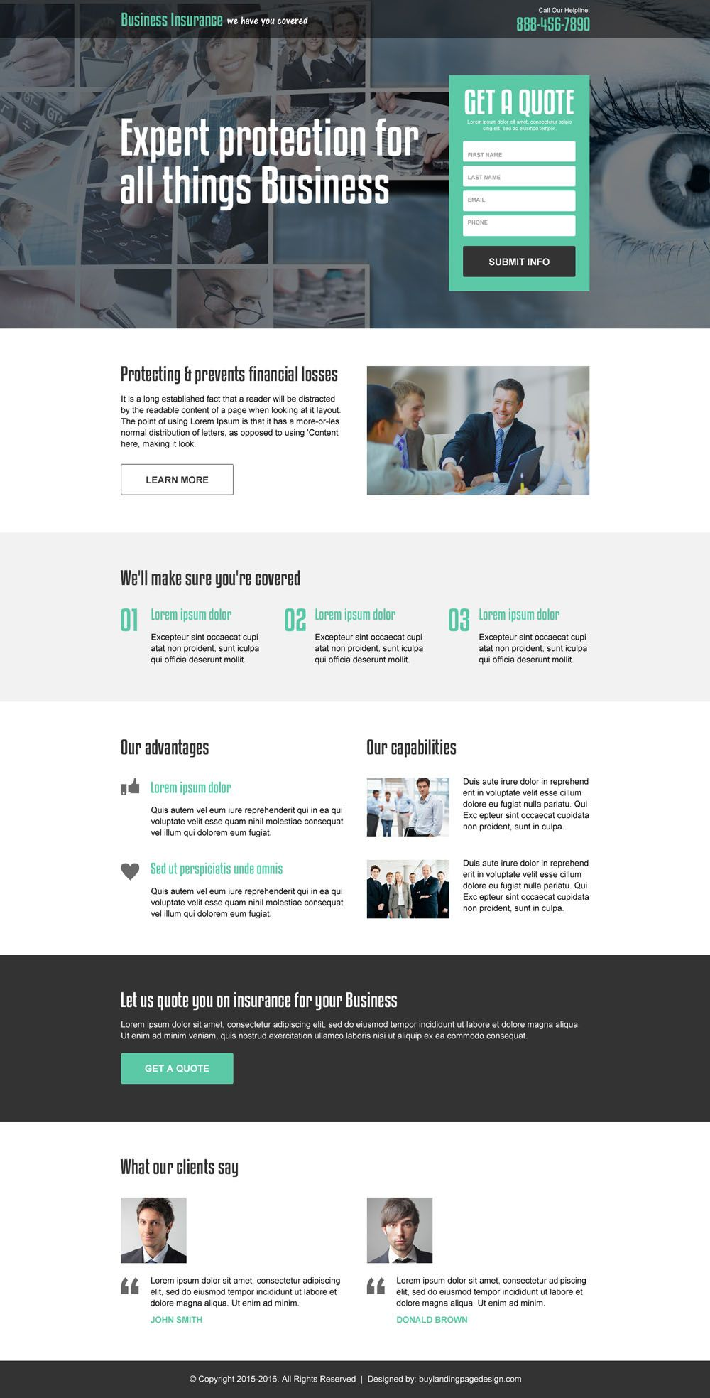 Business Insurance Landing Pages For Capturing High Quality Leads