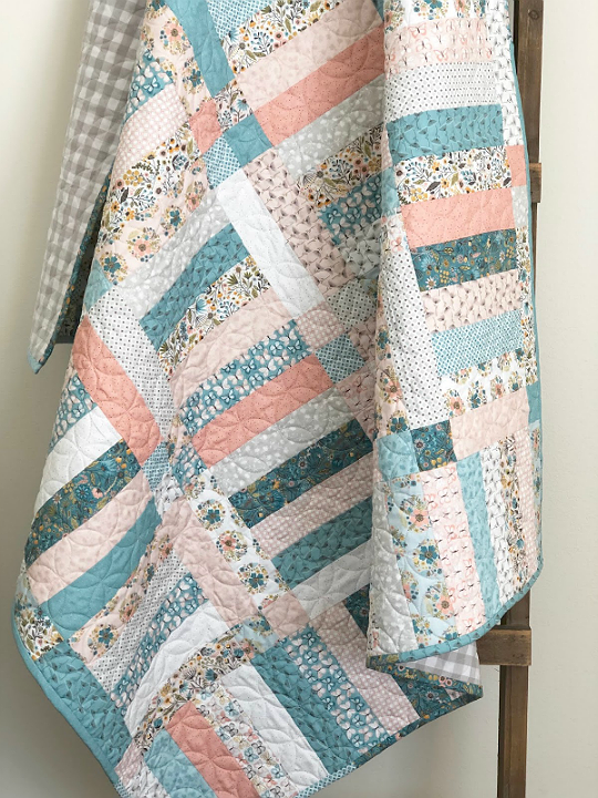This Jelly Roll Friendly Quilt is Super Easy to Make