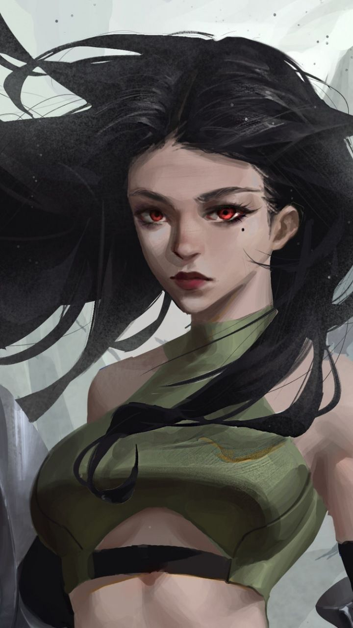 fantasy, dark hair, beautiful woman, 720x1280 wallpaper | digital