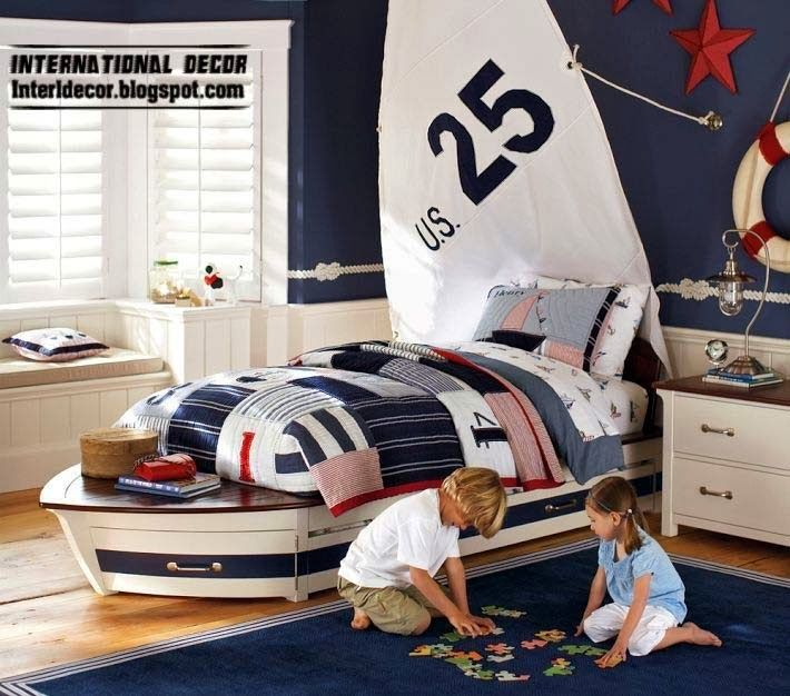 Children Room Design In Marine Style And Theme Kids Nautical Room Nautical Room Kids Room Design