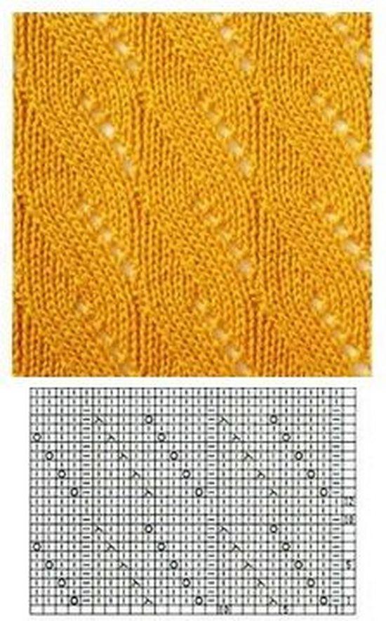 вязание спицами ажурные узоры для рукава