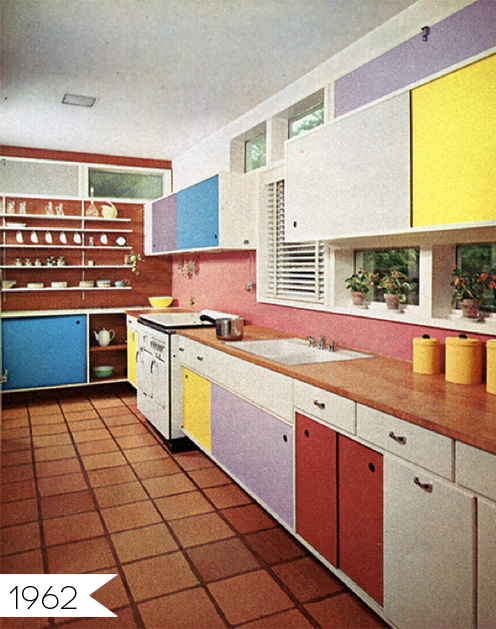 Everything Old Is New Again Multi Colored Cabinets In The Kitchen