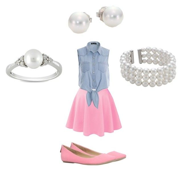 """Pink & Pearls"" by kg19796 ❤ liked on Polyvore featuring Call it SPRING, Mikimoto, John Lewis and Ice"