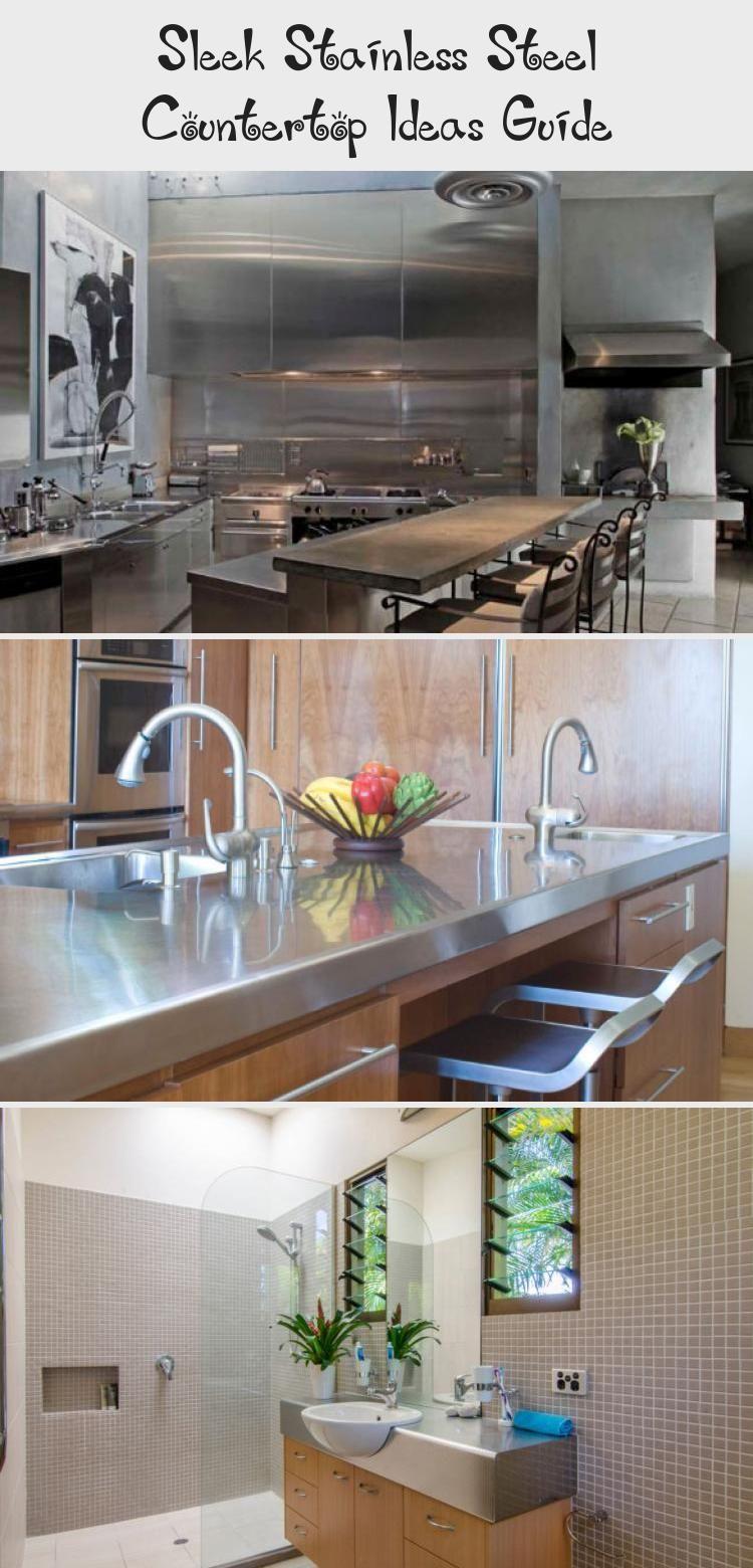 Sleek Stainless Steel Countertop Ideas Guide   Large ...