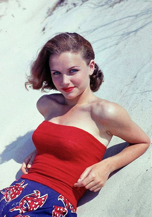 Lee Remick At The Beach In California 1959 Photo By