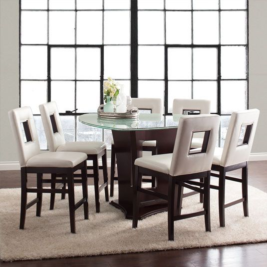 The Soho 5 Piece Glass Dining Set Offers Contemporary Style With A Beautif Counter Height Dining Sets