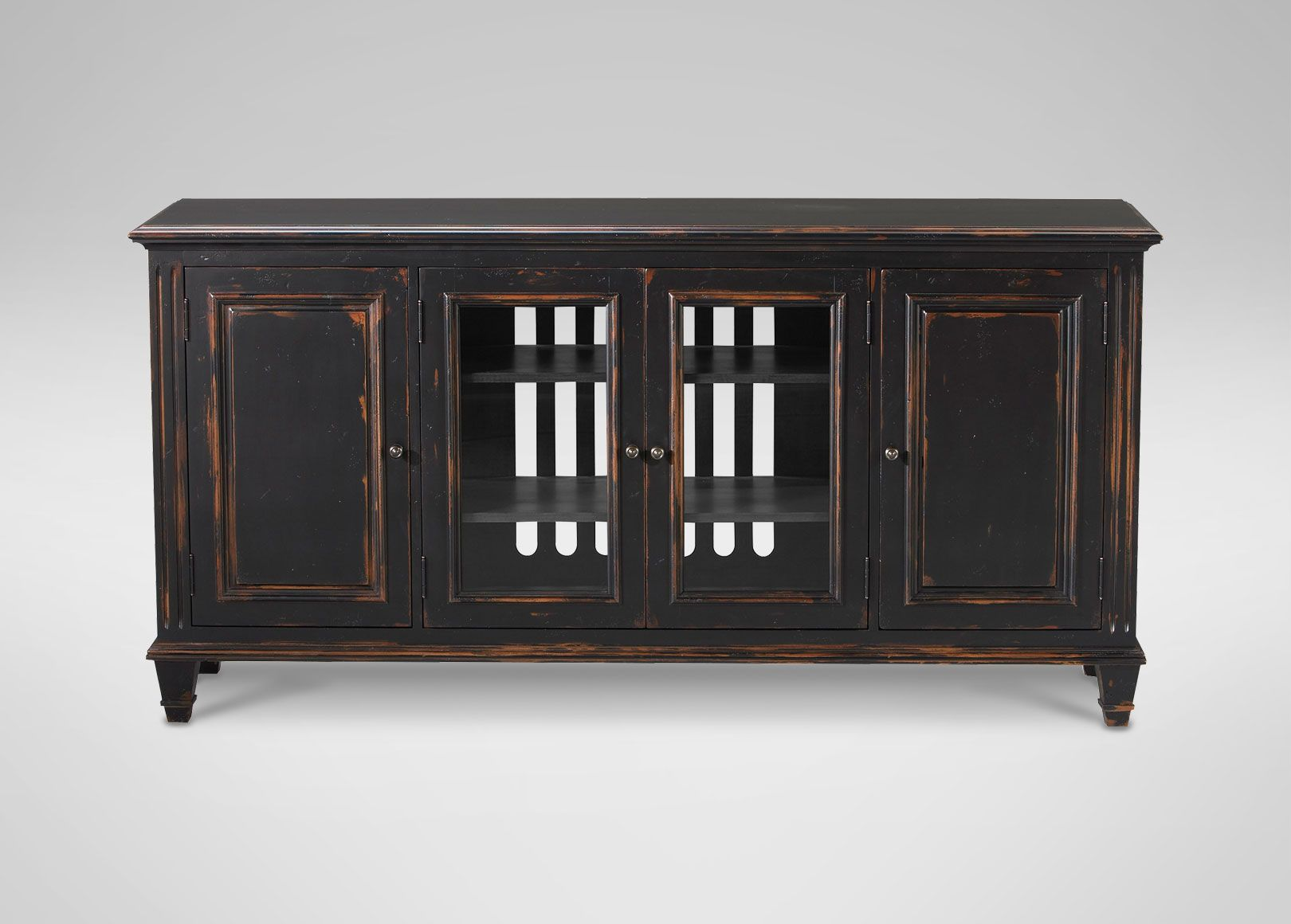 Buy Ethan Allens Jason Buffet With Glass Doors Or Browse Other Products In Buffets Sideboards Servers