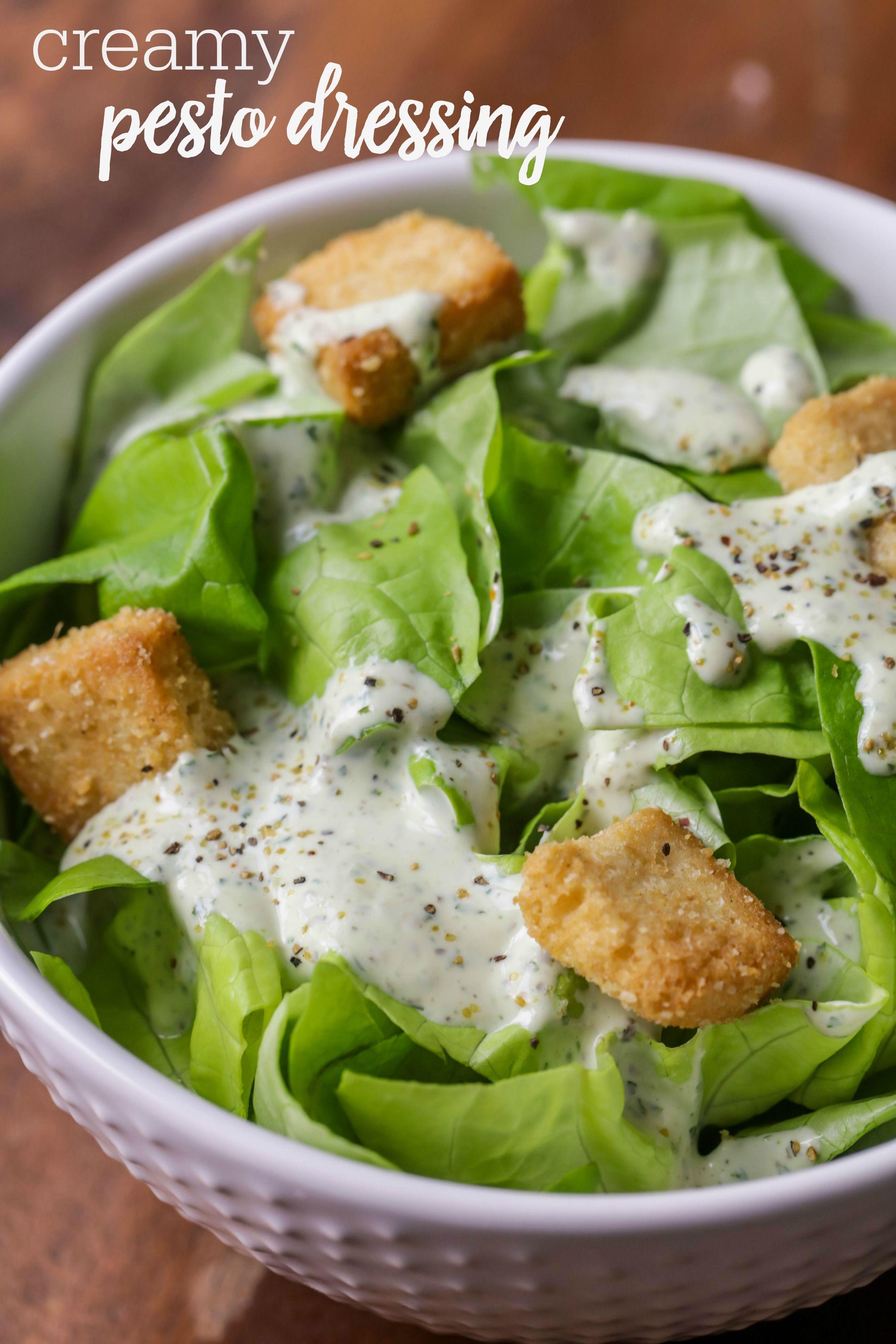 Pesto Salad Dressing Recipe 5 Ingredients 5 Minutes Lil Luna Recipe Pesto Dressing Salad Dressing Recipes Healthy Creamy Pesto