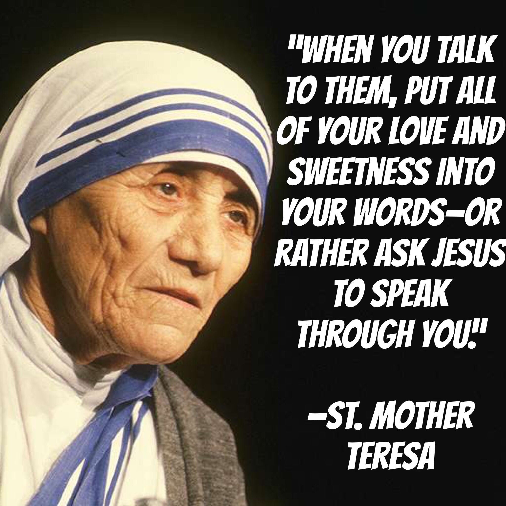 Mother Teresa of Calcutta Quote 24x36 poster Saint Missionary Nobel Peace Prize!