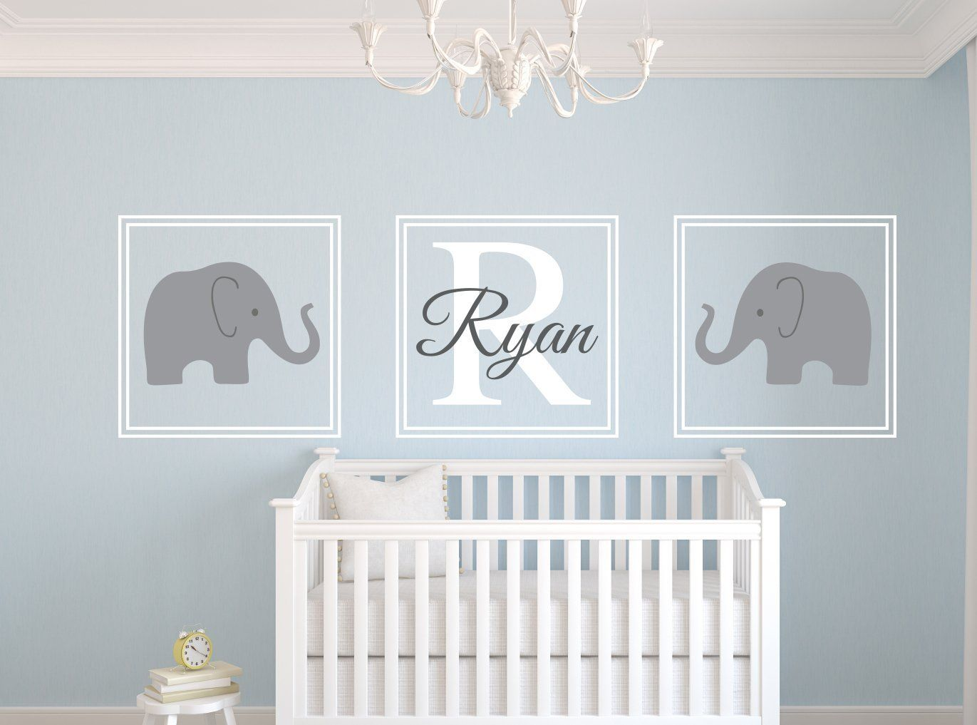 Baby Blue Bedroom Ideas Modern Gray Elephant Nursery Lamp With Light Blue Trim