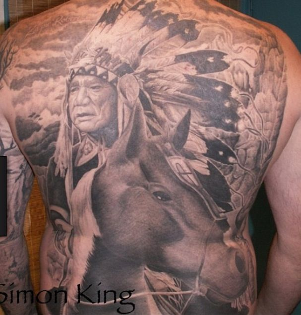 385431e14 Native American horse tattoo | tattoos | Tattoos, Native american ...
